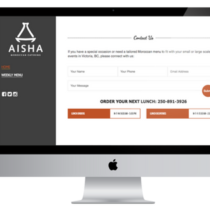Aisha Catering Contact Page