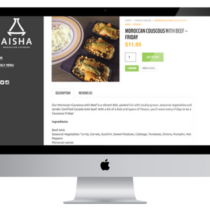 Aisha Catering Product Page
