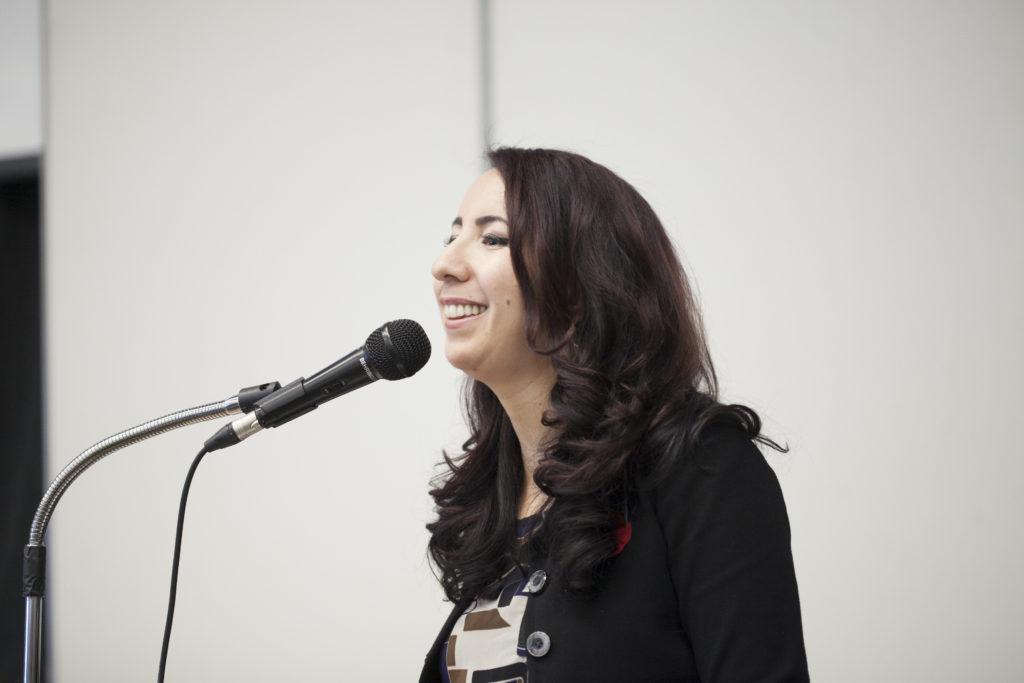 Asmaa Methqal facilitating the Sidney Summit on Habitat and Environment 2018